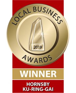 Hornsby Kuringgai Local Business Awards Winner 2019
